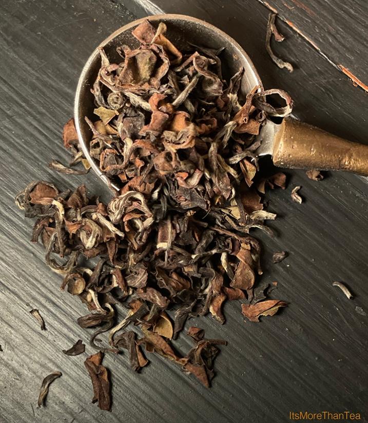 tea leaves closeup